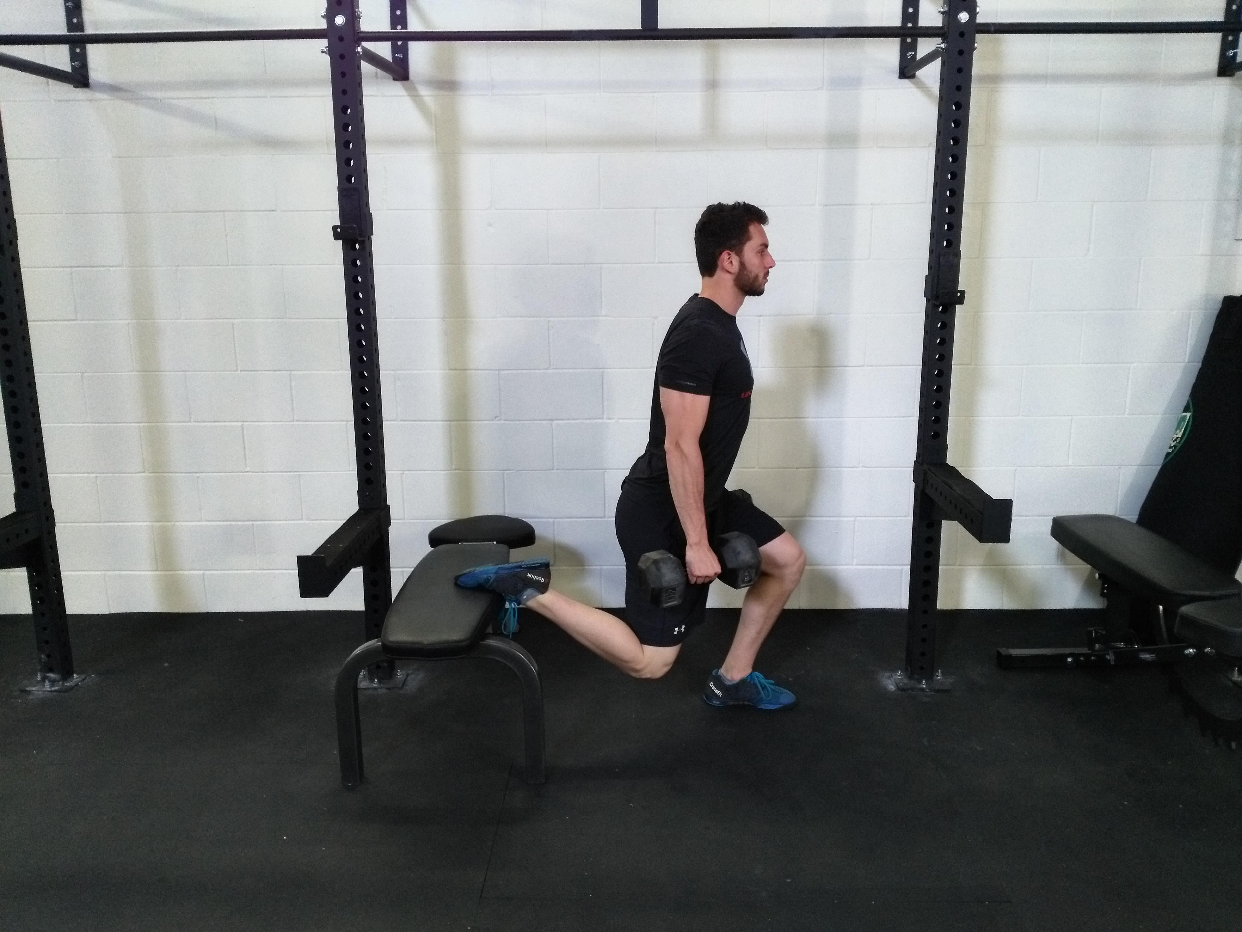 Athlete, Split Squat, Legs, Lower body Training, split squat, grit strength and conditioning bracebridge, gym bracebridge